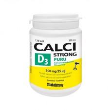 Кальций-витамин D3 жевательная таблетка со свежим лимонным вкусом Calci Strong Chew + витамин D3 120 таб