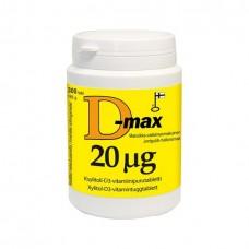 D-max 20 мкг витамина Д3 300 таб