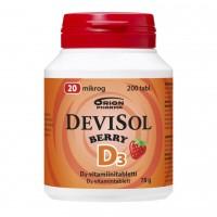 DeviSol D3. Витамин D3 20 мкг 200 табл