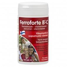 Ferroforte B®+C Цитрат железа и витамины в таблетках 120 шт, Финляндия