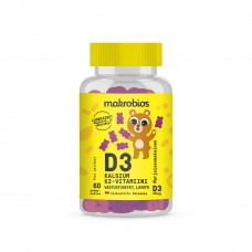 Makrobios Кальций витамин Д и K для детей и взрослых 60 капс