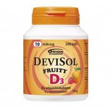 DeviSol D3. Витамин D3 10 мкг 200 табл