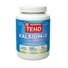 Bioteekin Teho Kalsium + D, Кальций и Витамин D, яблочнй вкус, 80 жев. таблеток