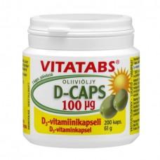 Vitatabs® D-Caps 100 мкг витамин Д на оливковом масле 200 капс