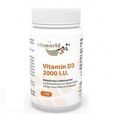 Vita World Vitamin D3 2000 МЕ или 50 мкг 100 капсул