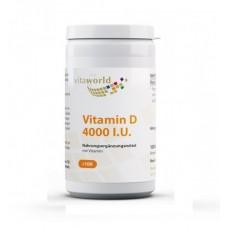 Vita World Vitamin D3 4000 МЕ или 100 мкг 100 капсул